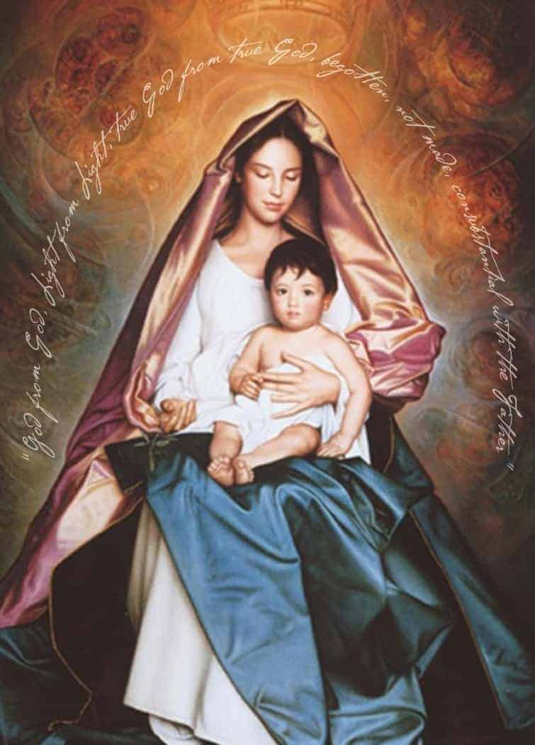 Christmas Card Regina Pacis By Ulisse Sartini Set Of 10