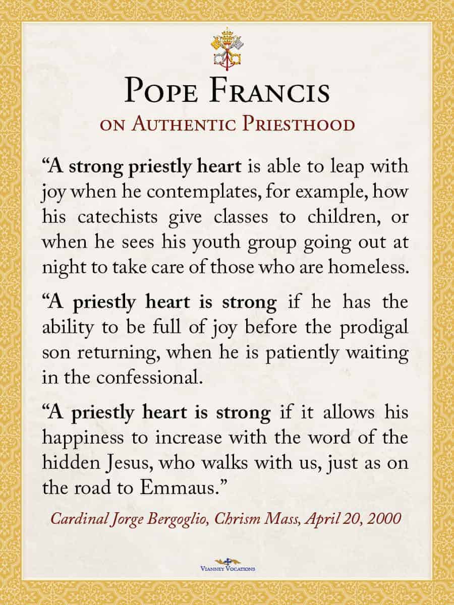 Pope francis on authentic priesthood card set of 50 vianney pope francis on authentic priesthood card set of 50 vianney vocations altavistaventures Gallery