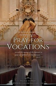 Pray for Vocations Poster, English side