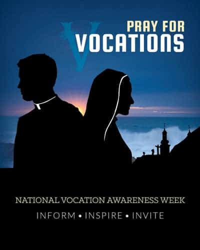 National Vocation Awareness Week Prayer Card