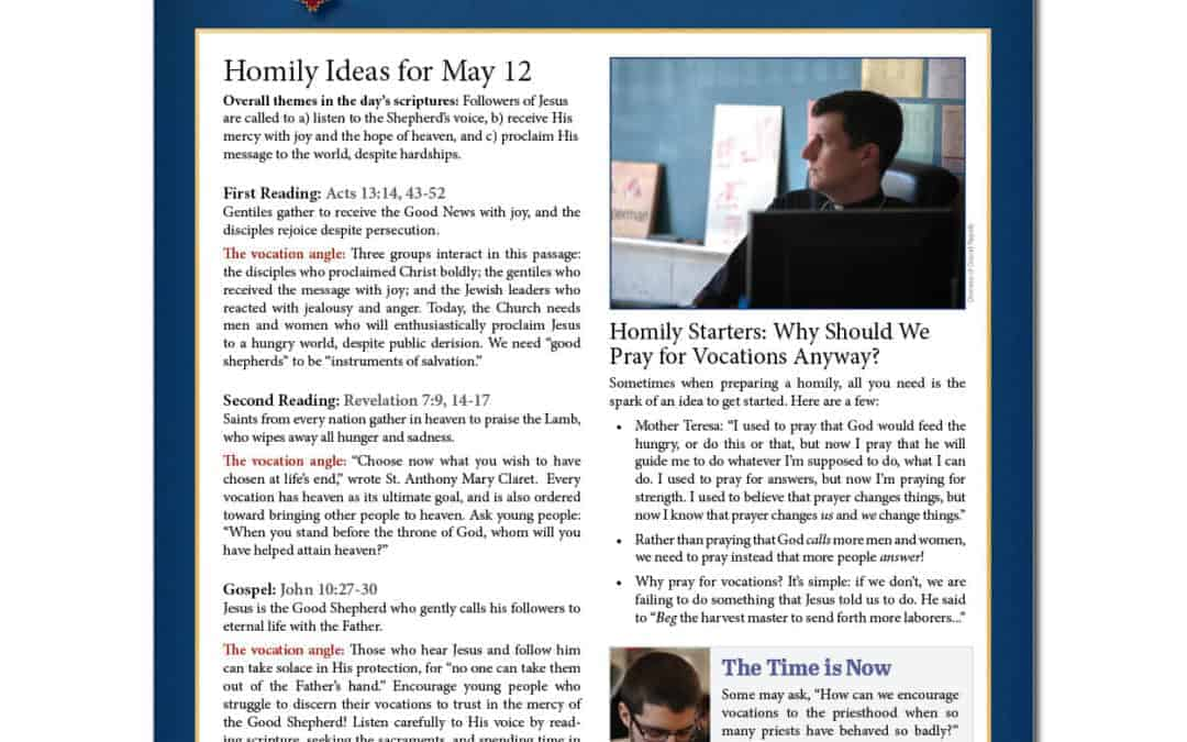 Priest Resource Page—World Day of Prayer for Vocations
