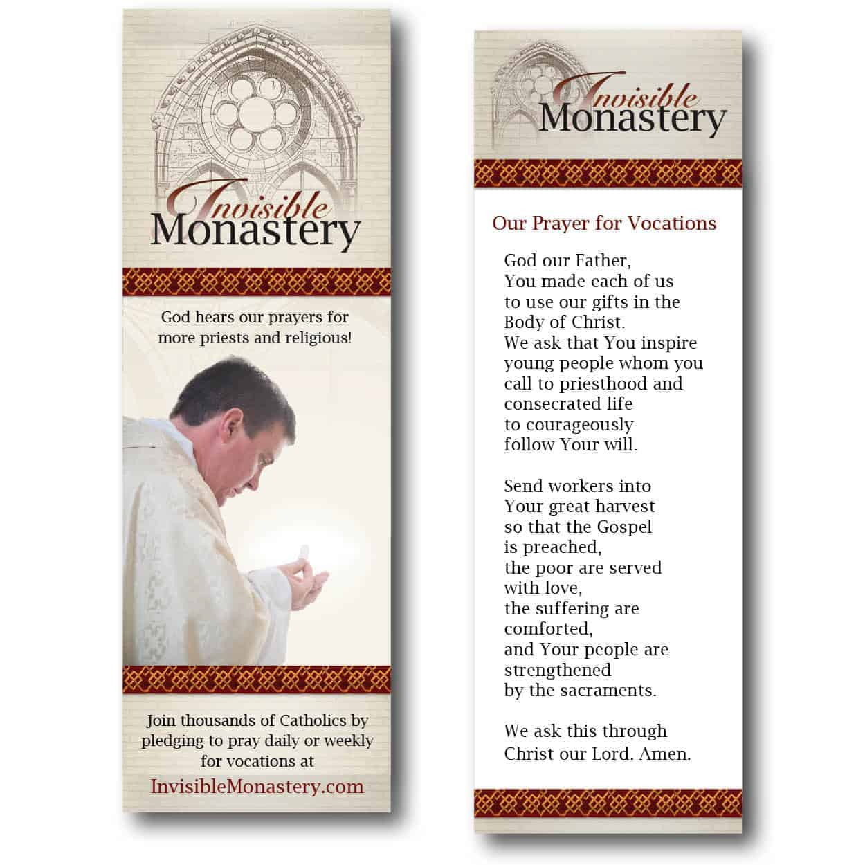 Bookmark - Invisible Monastery (set of 50)
